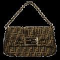 Fendi(フェンディ) ダブルFモノグラムハンドバッグ